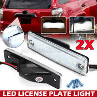 2X White LED License Plate Light For Toyota 4Runner 1996-2020 Sequoia