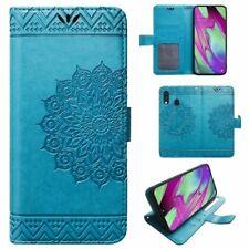 Samsung Galaxy A40 Mandala Handy Tasche Handyhülle Wallet Case Schutz Hülle Etui