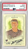 2018 Topps Allen & Ginter #207 RONALD ACUNA Rookie Card PSA GEM MINT 10