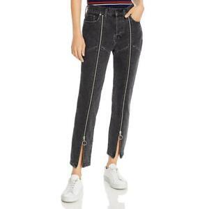 Pistola Womens Black High Rise Zip Straight Leg Straight Leg Jeans 28 BHFO 9275