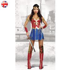 Adult Women Superhero Wonder Woman Fancy Dress Costume Halloween