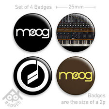 "MOOG distintivi-MINI SYNTH ANALOGICO MODULARE - 1"" distintivi badge x4 NUOVO"