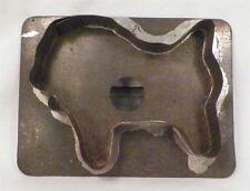 Antique Tin Cookie Cutter Sheep or Lion Folk Art Tinsmith Holiday Baking Cut Out