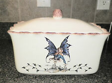 NEW KITCHEN FAIRY LARGE BREAD BOX STORAGE ORGANIZER AMY BROWN RETIRED COLLECTION