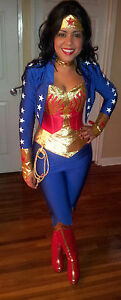 LOOK NEW ++++++ wonder woman costume with jacket and legging's ++++++ LOOK NEW