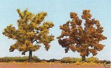 Busch 6654 HO (1/87e) Bomenset: 2 Fruitbomen, herfstgeel/bruin (95mm hoog)