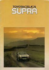 Toyota Celica Supra 2.8i 1982-84 UK Market Sales Brochure