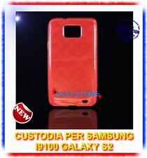 Pellicola+Custodia CERCHI ROSSA per Samsung I9100 galaxy s2 plus I9105