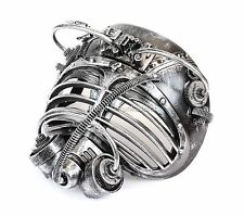 Burning Man Mask Steampunk Goggles Gear Halloween Costume Masquerade Mask-Silver