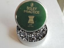 bisley practice 4.5mm / .177 cal x  500 tin of  pellets
