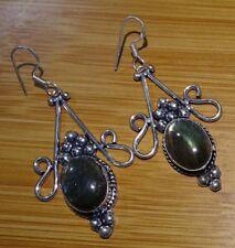 Labradorite 925 Sterling Silver Overlay Girl,s Women,s Drop Dangle Earrings