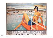 Nuevo ferrocarril Retro Vintage Holiday Brighton Cheshire viajar Cartel De Publicidad
