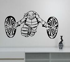 Michelangelo Ninja Turtles Wall Decal Video Game Vinyl Sticker Nursery Decor nt3