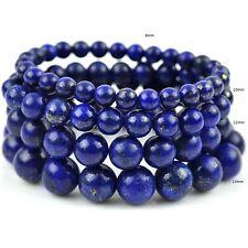 Joli Bracelet en Perles de Lapis Lazuli 8/10/12/14mm