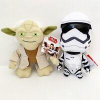 Kohl's Cares Disney Star Wars Yoda Storm Trooper Plush Lot Set of 2 Stuffed NEW