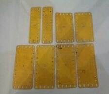 Vintage Meccano Spare Parts lot Flat Plates Yellow set of 8