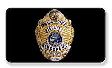 ALASKA STATE TROOPER POLICE BADGE MAGNET PACKAGE SET OF 4