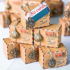 50 Set Small Vintage Inspired Airmail Wedding Candy Box Boxes Shower Gift Favor