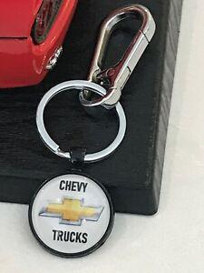 Black Chevy Trucks Key Chain - Chevrolet Trucks Logo Keychain - Key Ring