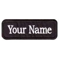 Rectangular 1 Line Custom Embroidered Name / Text Tag Patch (I)