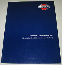 Werkstatthandbuch Nissan Maxima QX A32 / A 32 Karosserie Stand März 1995!