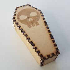 Halloween Coffin For Decoration MDF Wood Party Trick Treat Scull Design scary