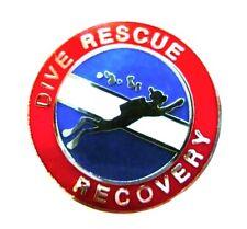 Dive Rescue Recovery Lapel Pin Silver Scuba Diver Diving Team Divers 67S1 New