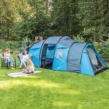skandika Skoppum 6 Person Man Family Tunnel Tent with 3 Entrances New
