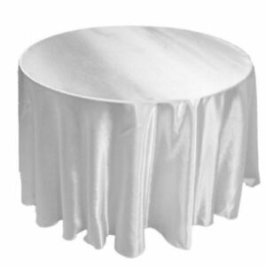 """10 Round SATIN 120"""" inch Tablecloth 5' Ft table WEDDING Party 25 COLORS USA SALE"""