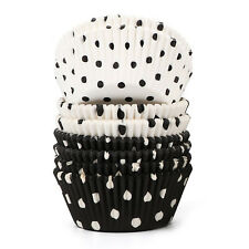 200 Count Polka Dots Black and White Paper Baking Cups / Cupcake Liners Sta K1Y2