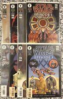 Dark Horse Comics STAR WARS EPISODE I Anakin, Obi, Amidala, Qui Gon, 8 Book Set