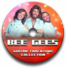 BEE GEES POP ROCK GUITAR TAB TABLATURE SONG BOOK SOFTWARE CD