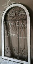 Wanddeko Deko Ornament Fenster Holz Metall Shabby Vintage Landhaus 115cm