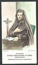Estampa de la Madre Crocifissa andachtsbild santino holy card santini