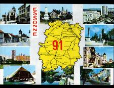 ESSONNE (91) CARTE CONTOUR GEOGRAPHIQUE DU DEPARTEMENT en 1989
