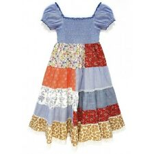 72821af5fc Domino Girl s Cotton Patchwork Print Lace Trim Gypsy Sun Dress Size 3 to 11  year