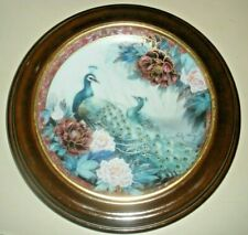 Collector Plate Tranquility by Lily Chang Garden of Paradise 1992 original frame