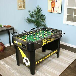 Sunnydaze 48-Inch Foosball Soccer Game Table Top Foosball Game Room Table