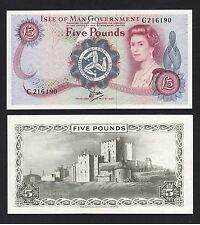 Isle Of Man 5 Pounds (ND 1982) P35a Prefix C - AUNC