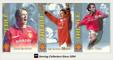 1999 Manchester United Football Club Limited ED TREBLE COLLECTION CARD SET-RARE