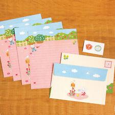 Cute Kitty Gardener Letter set - 4sh Writing Stationery paper Envelope Sticker