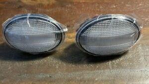 2X LED Side Marker Fender Light For Mini Cooper R55 R56 R57 R58 R59 Clear Lens
