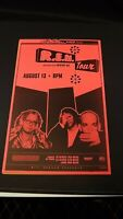 Genuine 1999 R.E.M Tour W/ Mercury Rev Music Concert Poster Shoreline Flyer Ad