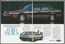 1986 FORD TAURUS 2-page advertisement, Taurus Sedan & station wagon