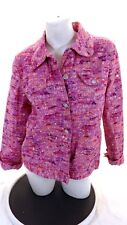 REDD JEANS WOMENS PINK STRETCH COTTON JACKET W BLING SIZE 12