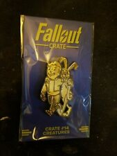 "FALLOUT 76 4 ANIMAL FRIEND PERK PIN ""Creatures"" LootCrate #14 Exclusive"