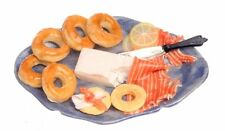 Dollhouse Miniature Bagels & Cream Cheese on a Platter