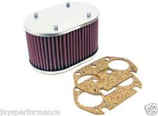 56-9084 Filtro aria K&N Custom per Singolo & Doppio Barile DELLORTO 32 FRDC carboidrati