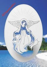 Angel Window Cling New Oval 10x16 Etched Glass Look Decal Sliding Door Decor