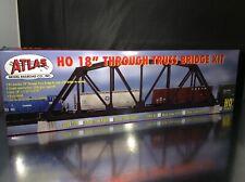 HO ATLAS THROUGH TRUSS BRIDGE CODE 83 BLACK NICKEL SILVER TRACK EXCELLENT